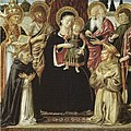 Gozzoli - Madonna Enthroned with Saints Dominic and Francis, 1473.jpg
