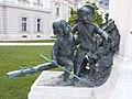 Gróf Festetics György szobor, szántó gyerekek, Festetics-kastély kertje, 2016 Hungary.jpg