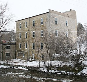 Grafton, Wisconsin - Image: Grafton Flour Mill back Dec 09