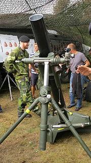 120 Krh/40 1940s portable 120 mm mortar of Finnish origin