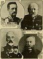 Grand Duke Nicholas Nikolaevich, Vladimir Sukhomlinov, Vice Admiral Grigorovich & Ivan Goremykin.jpg