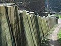 Gravestone wall (1) - geograph.org.uk - 1806450.jpg
