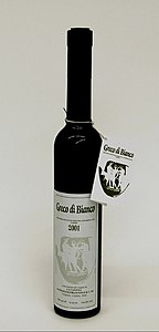 Greco di Bianco bottle - white wine passito - DOC Protected geographical indication wine label.jpg