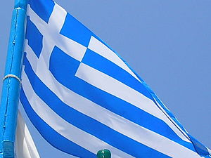 Greek Flag on Crete