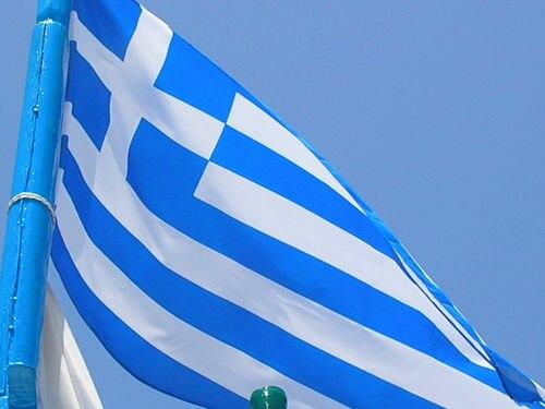 Greek Flag on Crete