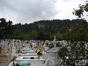 Greek cemetery on Good Friday of the Eastern O...
