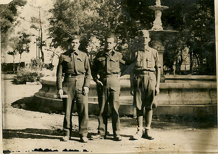 Panagiotis G. Tesseris (center) was a leader within EAM/ELAS. He is in full military uniform with other members of the Greek Resistance. Greek resistant members with Panagiotis G. Tesseris center.jpg