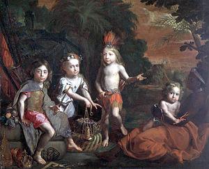 Gregor Brandmüller - Gregor Brandmüller (1661-1691), Les Trésors de l'Amérique, Musée du Nouveau Monde, La Rochelle