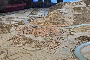 Plan-relief - Image: Grenoble serré plan relief 1848
