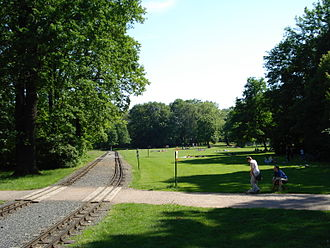 Dresden Park Railway - Double track section of line