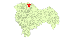 Location in Guadalajara Province