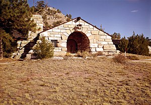 National Register of Historic Places listings in Platte County, Wyoming - Image: Guernsey State Park Museum, Highway 317, Guernsey (Platte County, Wyoming)