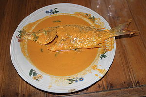 Grouper - Gulai kerapu, a grouper-based Padang food