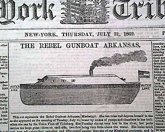 CSS Arkansas - Arkansas, as the vessel appeared to readers of the New York Tribune, July 31, 1862