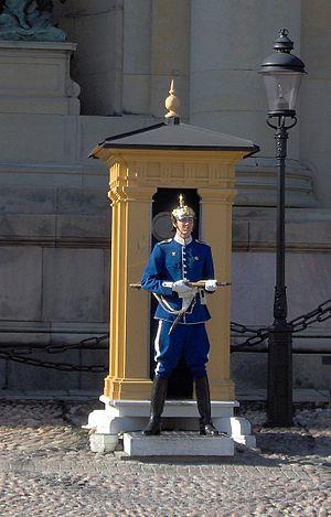 Life Guards (Sweden) - Image: Högvakten, Stockholms slott