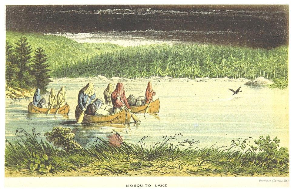 HIND(1863) LABRADOR-EXP. p222 MOSQUITO LAKE