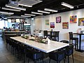 HK Admiralty Tamar Park restaurant interior Long table 愛烘焙餐廳 iBakery Gallery Cafe by Tung Wah Hospital Sept-2012.JPG