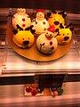 HK Sheung Wan Shun Tak Centre shop Bakery Christmas snowmen cakes Dec-2012.JPG