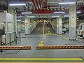 HK Wan Chai 分域街 Fenwick Street 電訊大廈 Telecom House carpark interior exit night Oct-2013.JPG