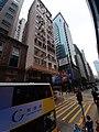 HK tram 118 view 灣仔 Wan Chai 軒尼詩道 Hennessy Road Chi Po Building Tonnochy Road CLI Building bus body ads 明翹匯 The Grand Marine October 2019 SS2.jpg
