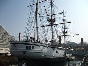 HMS Gannet 1878 stern at Chatham.JPG
