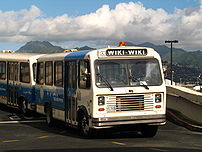 Wiki Wiki bus at the Honolulu International Ai...