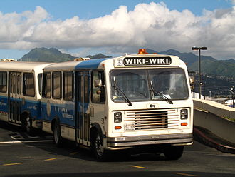 Airport bus - The Wiki Wiki terminal transfer bus at Honolulu International Airport