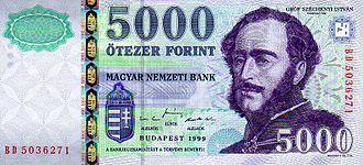István Széchenyi - Image: HUF 5000 1999 obverse