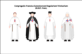 Habit of the Trinitarian canons regular of the congregation of France.png