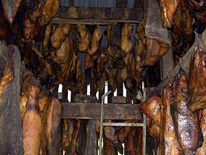 Fermented shark, hákarl, is an example of a cu...