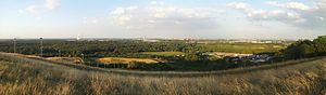 Halde Rheinpreußen - View from the spoil tip Rheinpreussen in Duisburg