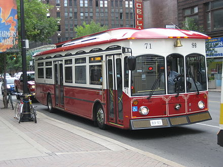 Route 99 - Waterfront Shuttle (seasonal) Hamilton Trolley Bus, Waterfront Shuttle.jpg
