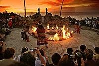 Hanoman Kecak Dance Uluwatu sunset.jpg