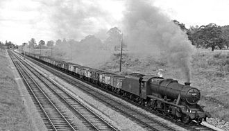 Bristol and Gloucester Railway - Down coal train south of Haresfield in 1962