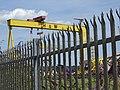 Harland & Wolff Cranes - Near Titanic Belfast - Belfast - Northern Ireland - UK (42732639205).jpg