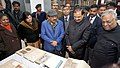 Harsh Vardhan and the Minister of State for Culture and Tourism (Independent Charge), Dr. Mahesh Sharma jointly visited the Heritage Archaeological Monuments in Chandni Chowk, Delhi viz. Delhi Public Library.jpg