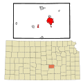 Harvey County Kansas Incorporated and Unincorporated areas Newton Highlighted.svg
