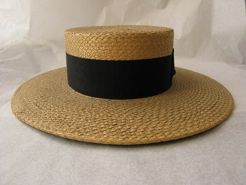 File:Hat, boater (AM 1968.105-2).jpg