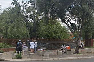 Hector Pieterson - The site where Hector Pieterson is reputed to have been shot by Police. It now has a memorial to his memory.