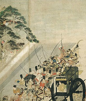 Siege of Sanjō Palace - Image: Heiji Monogatari Emaki Sanjo scroll part 3