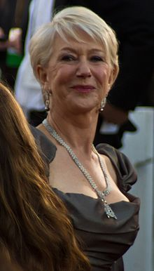 Helen Mirren alla cerimonia del premio Oscar nel 2011