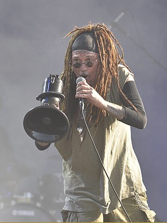 Al Jourgensen - Jourgensen performing with Ministry at 2017's Hellfest (Clisson, France)