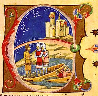 History of Bratislava - The earliest known depiction of Pressburg Castle, 14th century