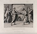Herod and Pontius Pilate shake hands. Etching by F.A. Ludy a Wellcome V0034560.jpg