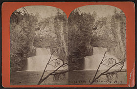 High Falls, Chateaugay, N.Y, by A. B. Buell.jpg