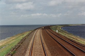 Marsh Railway - The Hindenburg causeway in front of Sylt