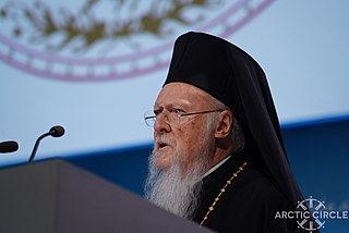 His All-Holiness Ecumenical Patriarch Bartholomew I at -ArcticCircle2017 (37625491456).jpg