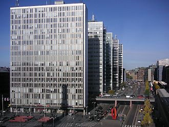 Hötorget buildings - Hötorget skyscrapers and Sveavägen in 2007.