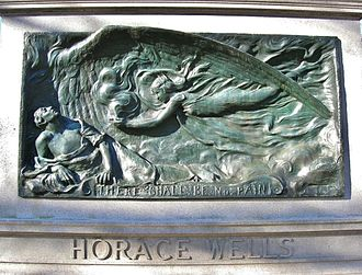 Horace Wells - Image: Horace Wells Monument, Cedar Hill Cemetery, Hartford, CT February 2016