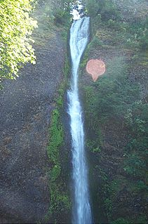 Horsetail Falls (Oregon) waterfall in Oregons Columbia Gorge